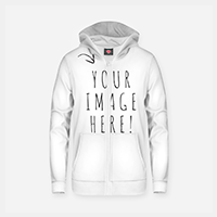 Cotton zip up hoodie thumbnail image